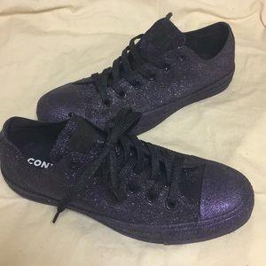 Converse Allstar purple glitter